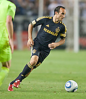 CARSON, CA – July 4, 2011: LA Galaxy midfielder Landon Donovan (10) during the match between LA Galaxy and Seattle Sounders FC at the Home Depot Center in Carson, California. Final score LA Galaxy 0, Seattle Sounders FC 0.