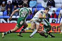 Ian Whitten of Exeter Chiefs takes on the London Irish defence. Aviva Premiership match, between London Irish and Exeter Chiefs on February 21, 2016 at the Madejski Stadium in Reading, England. Photo by: Patrick Khachfe / JMP