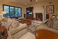 Stock photo of beautiful living / family room