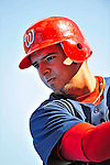 7 March 2009: Washington Nationals' infielder Chris Marrero prepares to take batting practice prior to a Spring Training game against the New York Mets at Tradition Field in Port St. Lucie, Florida. The Nationals defeated the Mets 7-5 in the Grapefruit League matchup. Mandatory Photo Credit: Ed Wolfstein Photo