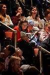 Manchester, New Hampshire, USA, 20080106: Presidential Hopeful Barack Obama (D) speaking at the Manchester Palace Theatre.<br />