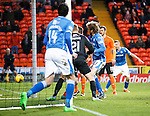 Dundee United v St Johnstone....21.11.15  SPFL,  Tannadice, Dundee<br /> Murray Davidson puts the ball in the back of the net to make it 2-1<br /> Picture by Graeme Hart.<br /> Copyright Perthshire Picture Agency<br /> Tel: 01738 623350  Mobile: 07990 594431