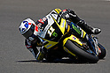 May 1, 2010 - Jerez, Spain - Monster Yamaha Tech 3 Team's Ben Spies of the US powers his bike during a free Moto GP practice session at Jerez de la Frontera's circuit on May 1, 2010. (Photo Andrew Northcott/Nippon News).