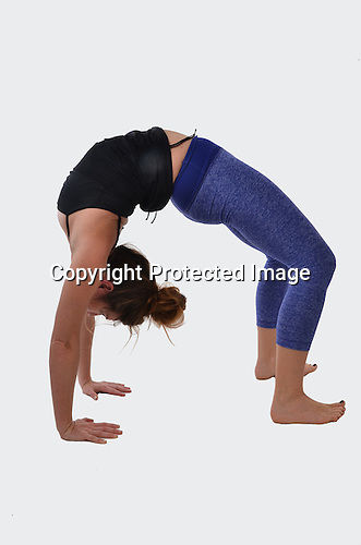 Stock Photo Woman doing yoga