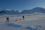 Skiing in the mountain,Sarek,