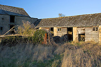 Derelict barn and stables, The Cotswolds, Oxfordshire, UK