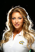 Jan 13, 2016; Brownsburg, IN, USA; NHRA top fuel driver Leah Pritchett poses for a portrait during a photo shoot at Don Schumacher Racing. Mandatory Credit: Mark J. Rebilas-USA TODAY Sports