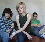 "The subways are a teenage rock trio from the UK that are getting a whole lotta buzz, photographed in Los Angeles, November 29, 2005. Billy Lunn (guitars/vocals),right, Mary-Charlotte Cooper (bass/vocals),center, Josh Morgan (drums),left, their debut album ""Young For Eternity"", was released on July 4th 2005."