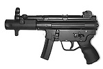 Heckler and Koch MP5. A german made machine pistol designed for military and law enforcement use.
