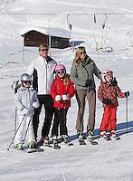 Queen Beatrix Of The Netherlands, Prince of Orange Willem-Alexander, Princess Maxima & kids-Austria