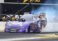 Feb 10, 2017; Pomona, CA, USA; NHRA funny car driver Jack Beckman during qualifying for the Winternationals at Auto Club Raceway at Pomona. Mandatory Credit: Mark J. Rebilas-USA TODAY Sports