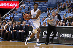 06 November 2015: North Carolina's Kenny Williams. The University of North Carolina Tar Heels hosted the Guilford College Quakers at the Dean E. Smith Center in Chapel Hill, North Carolina in a 2015-16 NCAA Men's Basketball Exhibition game. UNC won the game 99-49.