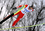 MAKSIM ANISIMOV of Bulgaria soars through the air during the FIS World Cup Ski Jumping in Sapporo, northern Japan in February, 2008.
