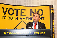 NO REPRO FEE. 252/10/2011. VOTE NO TO THE 30TH AMENDMENT. Pictured at a public meeting about sound reasons to Vote No to the 30th Amendment to the Constitution (Oireachtas Inquiries) hosted by the Irish council for Civil Liberties at the National Library Kildare St. Dublin is Mark Kelly Director Irish council for Civil Liberties. Picture James Horan/Collins Photos.