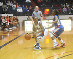 Ole Miss' Valencia McFarland (3) vs. West Georgia's Regina Brown (22) in women's college basketball action in Oxford, Miss. on Thursday, November 4, 2010.
