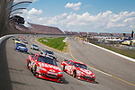 June 14, 2009: 14 Tony Stewart and 42 Juan Montoya at the Life Lock 400 race, Michigan International Speedway, Brooklyn, MI.