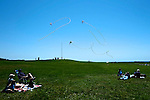 Kite flying, Fort Adams State Park. Newport, RI