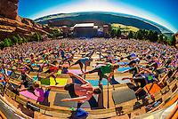 USA-Colorado-Red Rocks Amphitheatre-Yoga