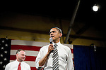 "Tuesday, May 8,  2007. Richmond, VA.. US Presidential candidate and senator Barack Obama, held what was billed as a ""low dollar fundraiser"" at Plant Zero in Richmond, VA, drawing a crowd of 700 supporters.. He was joined on stage by  Virginia Governor Tim Kaine"