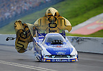 Jun. 19, 2011; Bristol, TN, USA: NHRA funny car driver Robert Hight during the Thunder Valley Nationals at Bristol Dragway. Mandatory Credit: Mark J. Rebilas-