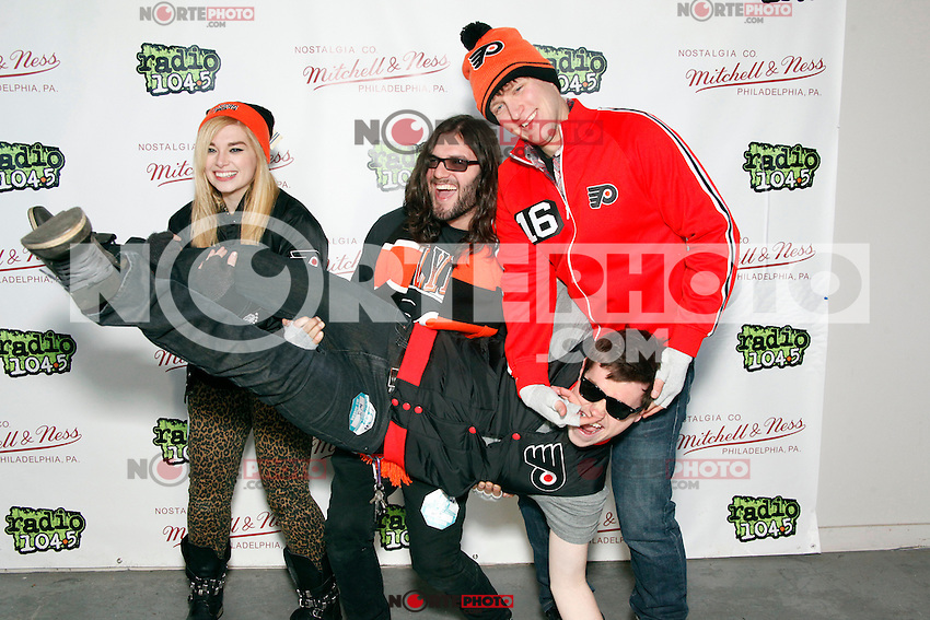 PHILADELPHIA, PA - JANUARY 26 :  June Divided pictured backstage at Radio 104.5's Winter Jam at The Piazza in Philadelphia, Pa on January 26, 2013  © Star Shoter / MediaPunch Inc /NortePhoto /NortePhoto