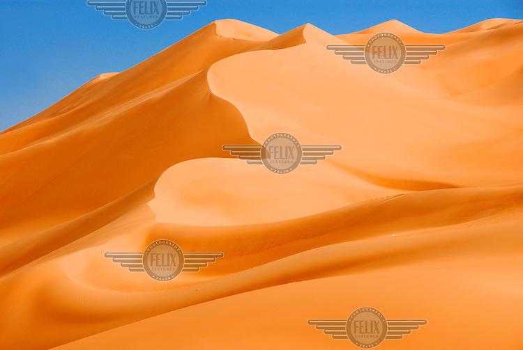 Sand dunes in the Erg Ubari desert.