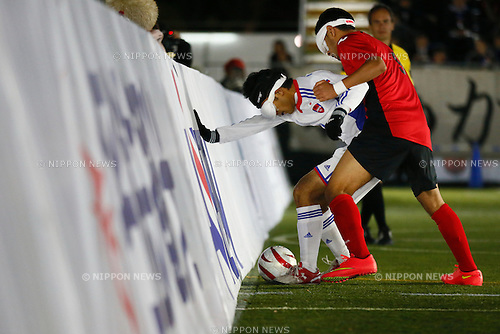 Ryo Kawamura (JPN), NOVEMBER 18, 2014 - Football 5-a-sider : IBSA Blind Football World Championships 2014 Group A match between Japan 0-0 Morocco at National Yoyogi Stadium Futsal Court, Tokyo, Japan. [1180]