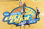 24 MAR 2012:  General view of the opening tip off between the University of Montevallo and Western Washington University during the Division II Men's Basketball Championship held at the Bank of Kentucky Center in Highland Heights, KY.  Western Washington defeated Montevallo 72-65 for the national title.  Joe Robbins/NCAA Photos