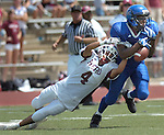 Jodi Miller Lubbock Avalanche-Journal.Estacado's Eric Washington(35) breaks up a Hereford pass to Matt Silva(4) in the second quarter of Saturday afternoon's game at Lowrey Field. The pass fell incomplete.