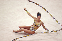 Oct 01, 2000; SYDNEY, AUSTRALIA:<br /> Almudena Cid Tostado of Spain performs with ribbon during rhythmic gymnastics final at 2000 Summer Olympics.