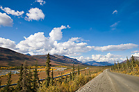Trans Alaska Oil Pipeline along the James Dalton Highway in the Brooks range, arctic Alaska.