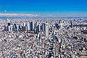 Aerial View of Shinjuku district taken on February 9th, 2012. Shinjuku has the busiest station in the world and also known as one of the biggest business district in Tokyo. (Photo by Masanori Yamanashi/AFLO)