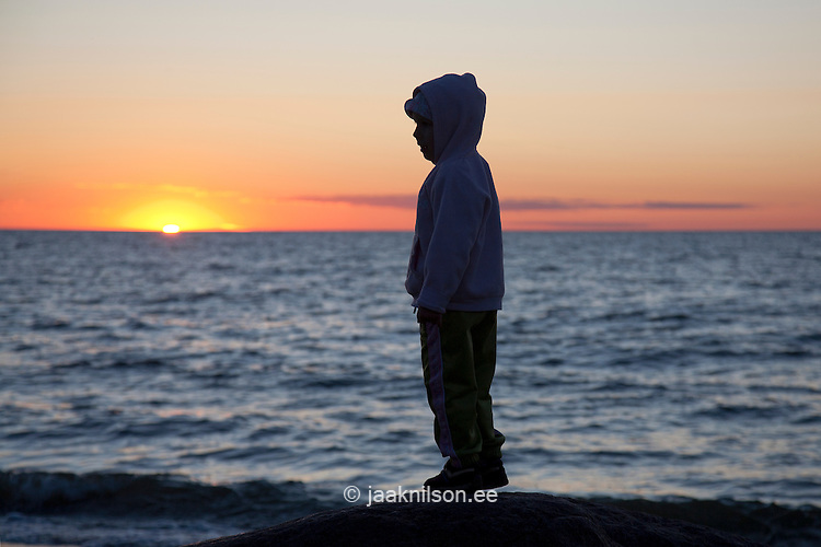 Kid Standing Alone Kid standing  silhouette atKid Standing Alone
