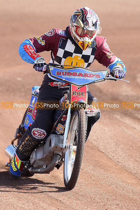 Shane Hazelden of Hackney Hawks in riding action - Hackney Hawks Speedway Press &amp; Practice Day at Arena Essex Raceway, Purfleet, Essex - 23/03/11 - MANDATORY CREDIT: Gavin Ellis/TGSPHOTO - Self billing applies where appropriate - Tel: 0845 094 6026