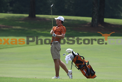 University of Texas redshirt sophomore Tayler Termeer hits from the fairway during the Carpet Capital Collegiate at The Farm Golf Club in Rocky Face, Ga., on Sunday, Sept. 8. The Longhorns return to The Farm as defending champions after shooting a 13-under 851 in 2012.<br /> <br /> Photo by Patrick Smith