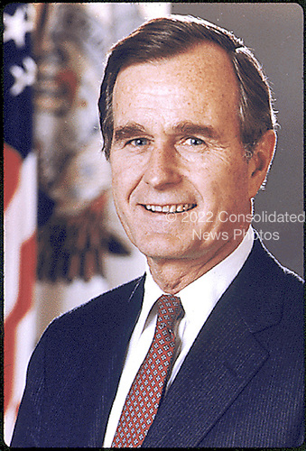 Washington, D.C. - Official portrait of the 41st President of the United States George H.W. Bush taken in 1989..Credit: White House via CNP