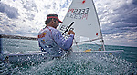 Spanish laser sailor Jesus Rogel, training in Palma de Mallorca, march 2011 &copy;JRenedo