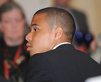 From left to right DC United  forward Charlie Davis, at the 2011 Season Kick off Luncheon, at the Marriott Hotel in Washington DC, Wednesday March 16 2011.