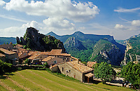 France. Village of Rougon overlooking the Gorges du Verdon. Var and Alpes de Haute Provence..