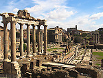 The Roman Forum in Rome, Italy