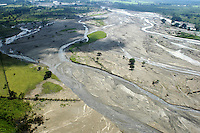 An arial view of the Huitla river two weeks after it burst its banks due to huricane Stan.