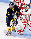 Candice Chevalier (Windsor - 11), Braly Hiller (BU - 31) - The Boston University Terriers defeated the visiting University of Windsor Lancers 4-1 in a Saturday afternoon, September 25, 2010, exhibition game at Walter Brown Arena in Boston, MA.