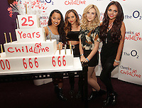 20/11/13<br /> Little Mix (L-R)  Leigh-Anne Pinnock,Jade Thirlwall,Perrie Edwards and Jesy Nelson who will be performing Cheerios Childline Concert at the O2 Dublin this evening&hellip;.<br /> Pic Collins Photos