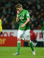 FUSSBALL   1. BUNDESLIGA   SAISON 2012/2013    18. SPIELTAG SV Werder Bremen - Borussia Dortmund                   19.01.2013 Nils Petersen (SV Werder Bremen) ist enttaeuscht