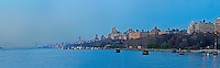 Hudson River, 79th Street Boat Basin, Riverside Park, Upper West Side, panorama, Manhattan, New York City, New York