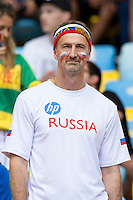 A dejected Russia fan