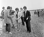 Beatles 1967 Ringo Starr and Neil Aspinall filming Magical Mystery Tour on Bodmin Moor<br /> &copy; Chris Walter