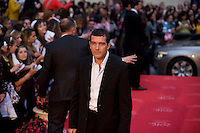 Spanish film actor Antonio Banderas pauses on the red carpet during 12 Festival de Málaga Cine Español 2009, Saturday, April 18, 2009, in Málaga, Spain. (Eduard Ockerse/pressphotointl.com)