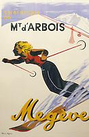 Europe/France/Rhône-Alpes/74/Haute-Savoie/Megève: Musée du Haut-Val-d'Arly dans une ancienne ferme (arts et traditions populaires) - Ancienne affiche de la station
