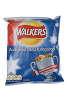 Packet of Walkers World Cup Australian BBQ Kangaroo Flavour Crisps - May 2010